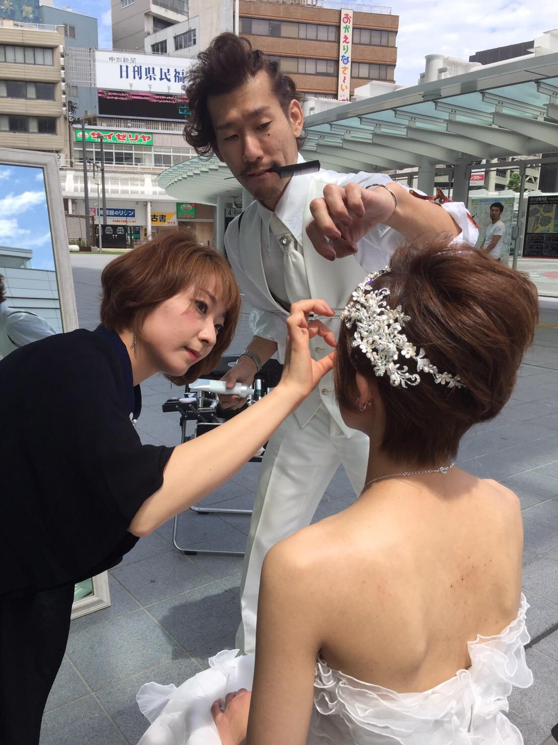 公開前撮り&結婚式@ハピリン