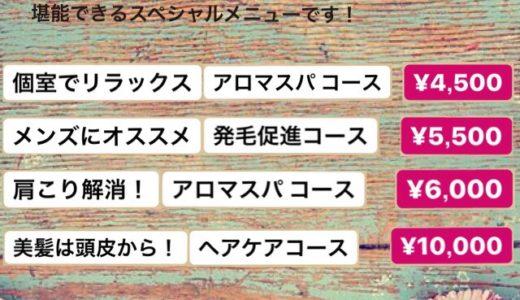 ヘッドスパ【アロマスパ】【収穫祭】【新店舗オープン予定】